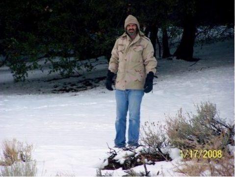 Poppa at the snow