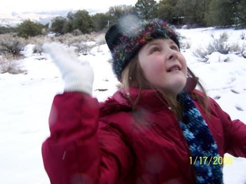 Lauren at the snow