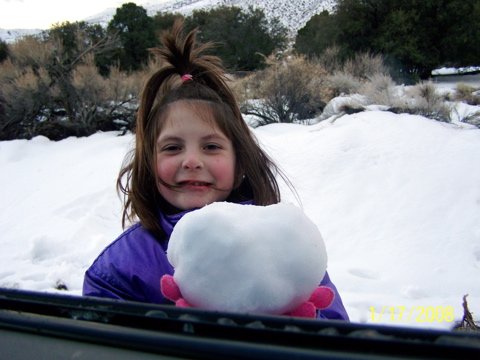 KK and her snowball