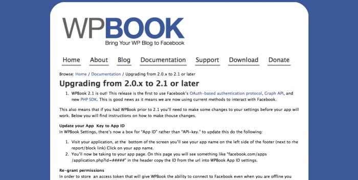 Test of WPBook
